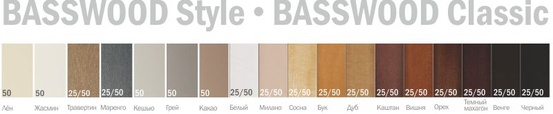 Basswood colors 2015